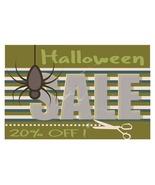 Halloween Sale Banner Vector-Digital clipart.  - $4.00