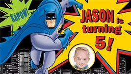 Batman Custom -Personalized- Birthday Banner with photo - $39.95