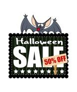 Halloween Sale Banner with Cartoon Bat-Digital ... - $3.00