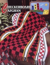"""Checkerboard Afghan 50""""x64"""" Annie's NEW Crochet Pattern - 30 Days To Shop & Pay! - $2.22"""