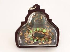 Antique Tibetan Natural JADE, Rhinestone Buddha SANGKAJAI Charm Pendant ... - $250.00