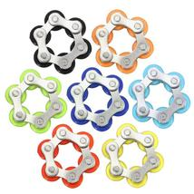 Stainless Steel Colorful Bicycle Chain Shape Rotating Fidget Hand Spinne... - $9.98