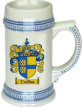 Vandop Coat of Arms Stein / Family Crest Tankard Mug - $21.99