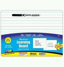 "BAZIC 9"" X 12"" Double Sided Dry Erase Learning Board with Marker, Case o... - $46.97"
