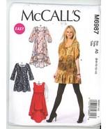 McCall's M6987 Misses Dresses - Sizes 6-8-10-12-14 Uncut - $2.00