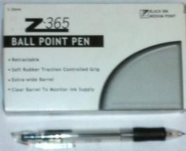 Zebra Z365 Ball Point Pen Retractable Black Medium Point 1.0 mm BX-21610... - $9.89