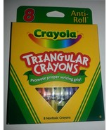 8 CRAYOLA TRIANGULAR Crayons Anti-roll  Brand New  Non-toxic - $4.94