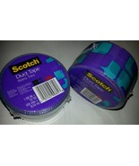 "2 Rolls of 3M Scotch Duct Tape Blue & Purple Retro Tiles 1.88"" X 10 Yards - $9.89"