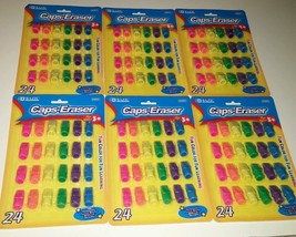 Bazic Caps Eraser Lot Bright Colors Eraser Caps Wholesale Lot 6 Packages - $19.79