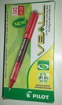 One Dozen Pilot Vball Begreen Roller Ball Stick Pen Red Ink .5 mm Extra ... - $9.89