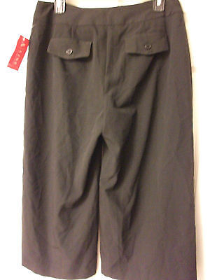 A/LINE BLACK CROPPED PANTS CAPRIS - NEW/NWT - WOMEN'S SIZE 6 - NICE