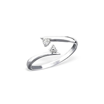 14K White Gold Finish 925 Silver RD White CZ Adjustable Women's Special Toe Ring - £17.58 GBP