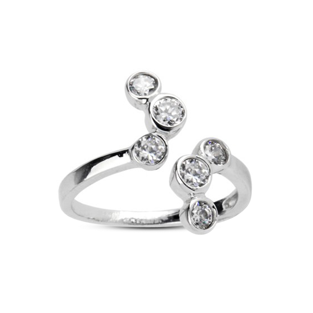 Primary image for New Design White Sim Diamond 925 Sterling Silver White GP Adjustable Toe Ring