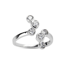 New Design White Sim Diamond 925 Sterling Silver White GP Adjustable Toe... - $9.99