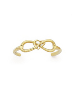 14K Yellow Gold Plated 925 Silver Beautiful Infinity Adjustable Ladies T... - £8.08 GBP