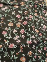 Floral Print Cotton Quilting   Fabric Remnant #4 - $9.00