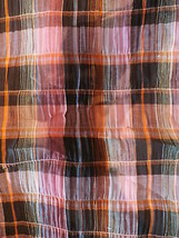 Plaid Crinkle Cotton  Fabric - $26.00