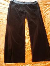 Women`S  Black Velvet Pants  Size 24 W - $30.00