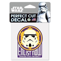 """NCAA Louisiana State University 15519115 Perfect Cut Color Decal, 4"""" x 4... - $7.67"""