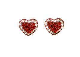 Sterling Silver Stud Screw Back Heart Crystal CZ Stone Ball Earrings 5mm... - $14.99