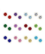 14K Gold Stud Screw Back Birthstone Earrings fo... - $12.25 - $34.29