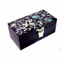 Lacquer ware inlaid new mother of pearl handcrafted jewelry,jewel box #0659 - $74.25
