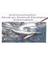adult coloring book original drawings Alaskan zentangle animals - $8.00