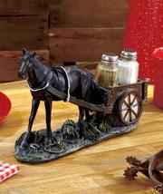 Decorative Salt & Pepper Shaker Set with Artistic Rustic Western Horse H... - $27.29