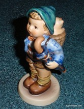 "SIGNED ""Home From Market"" Goebel Hummel Figurine #198 2/0 TMK6 Boy With Piglet - $74.20"