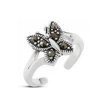 14K White Gp 925 Silver RD Sim Diamond Beautiful Butterfly Adjustable To... - $9.99