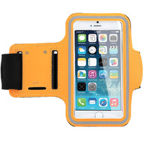 Sports Running Workout Gym Armband Arm Band Case Galaxy S5 S6 Edge Orange - $4.88