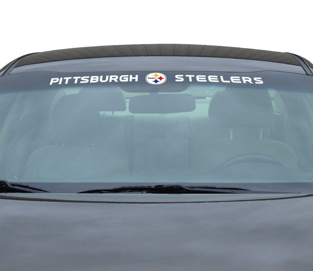 "PITTSBURGH STEELERS 35"" X 4"" WINDSHIELD REAR WINDOW DECAL CAR TRUCK NFL FOOTBALL"