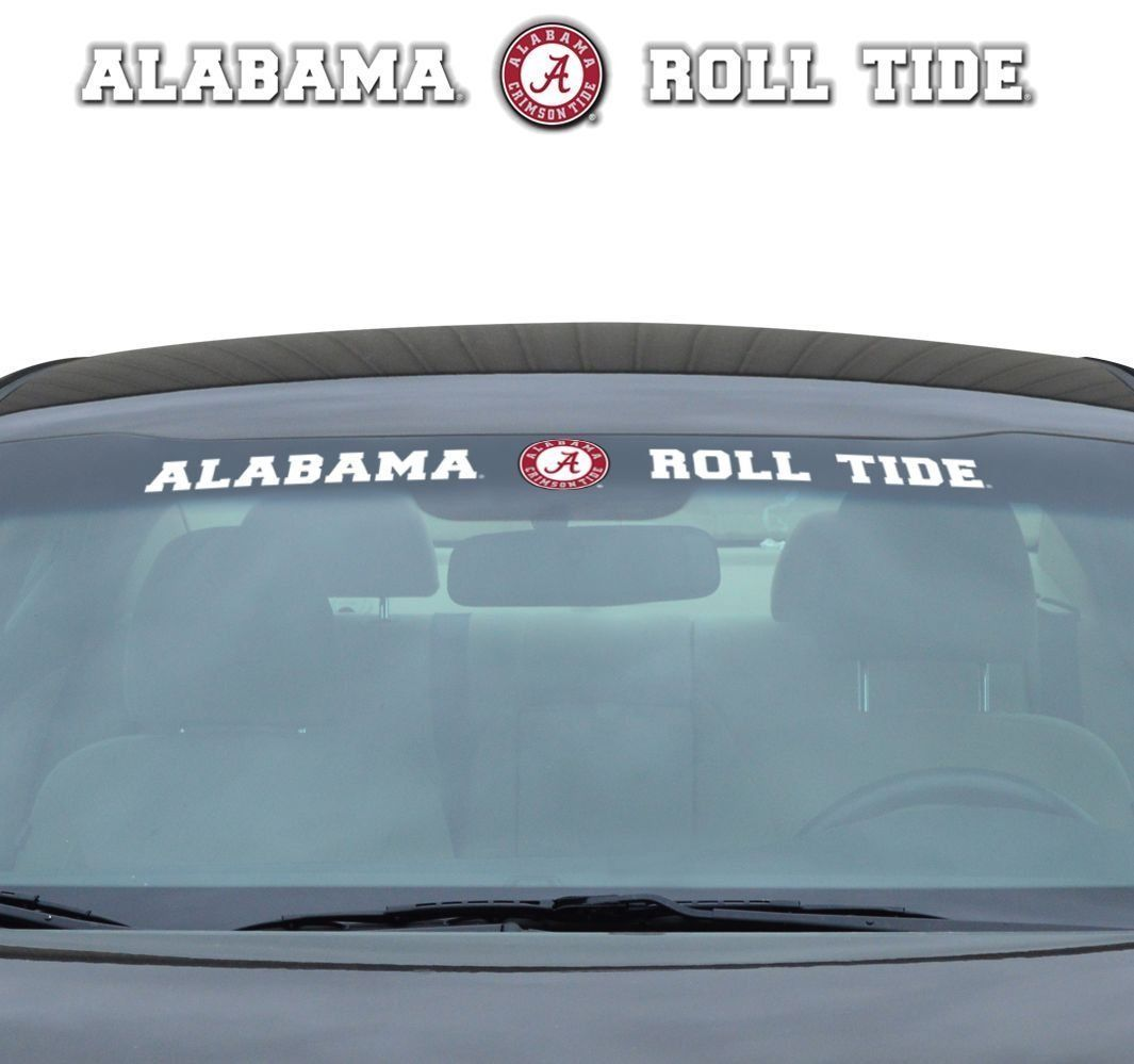 "ALABAMA CRIMSON TIDE 35"" X 4"" WINDSHIELD - REAR WINDOW DECAL CAR TRUCK NCAA"