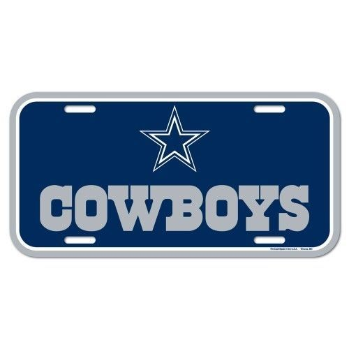 DALLAS COWBOYS TEAM LOGO CAR AUTO PLASTIC LICENSE PLATE TAG NFL FOOTBALL