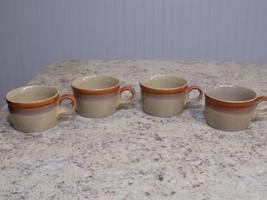 Lot of 4 Vintage MIKASA Potters Art PF852 Country Cabin Tea / Coffee Mug... - $17.33