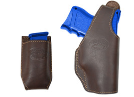 New Barsony Brown Leather OWB Holster + Mag Pouch for Walther Compact 9mm 40 45 - $69.99