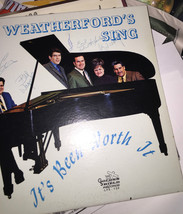 THE WEATHERFORD'S SING SIGNED 5X NEAR MINT VINYL RECORD - $93.36