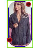 NWT XL 16 18  Black Heather Sweater Jacket Fly Away Open Cardigan Pocket... - $29.99