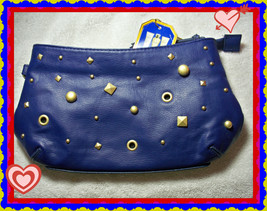 Victoria's Secret Fashion Dream Angels Heavenly Blue Stud Wristlet Cosmetic Bag - $14.99