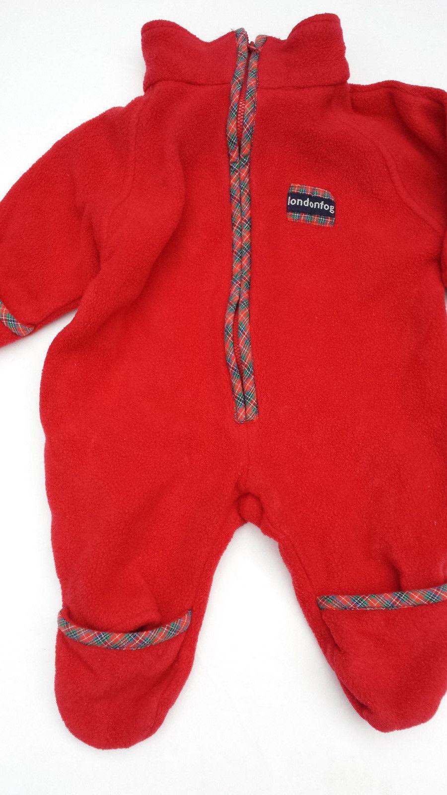 Unisex London Fog Red Infant Pram Bunting Snowsuit 3-6 months EUC