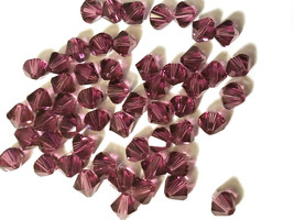 12pcs - 6mm Swarovski Crystal Faceted Bicone Beads - You Choose The Color image 2