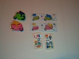 Kinder - K04 80A&B Motorcycles - complete set + 2 papers + 2 stickers - surprise - $2.50