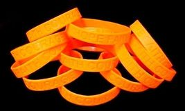 Orange Awareness Bracelets Lot of 100 Leukemia Support Silicone IMPERFEC... - $52.44