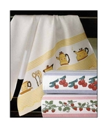 Yellow Madagascar 14ct Kitchen Towel 18x27 100% cotton STS Crafts - $7.38