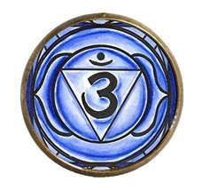 "6th Chakra Ajna 3rd Eye 1"" Circle Antique Gold Bronze Adjustable Ring - $14.95"