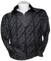 Alpakaandmore Men Turtleneck Pullover Alpaca Wool Sweater Grey (X-Large) - $163.35