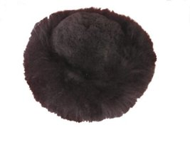 Alpakaandmore Womens Black Baby Alpaca Fur Mongolian Hat Satin Lined Russian ... - $55.44