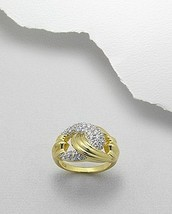 14K Sterling Pave CZ Buckle Ring - $59.00