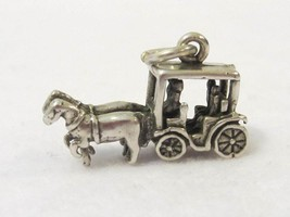 VTG Charm Pendant HORSE BUGGY CARRIAGE WAGON Sterling Silver - $25.00