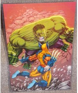 Incedible Hulk vs Wolverine Glossy Print 11 x 17 In Hard Plastic Sleeve - $24.99